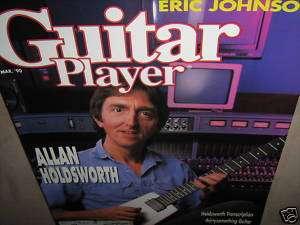 GUITAR PLAYER MAGAZINE Mar. 90 1990 Allan Holdsworth