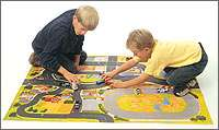 CLOTH CARVILLE PLAY MAT CAR PLAYMAT FELT TOY FLANNEL