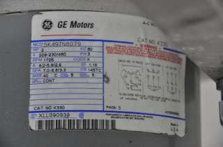 GE 2 HP AC GENERAL ELECTRIC MOTOR ~ MADE IN THE USA