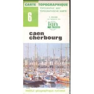 France Caen Cherbourg Carte Topographique: none:  Books