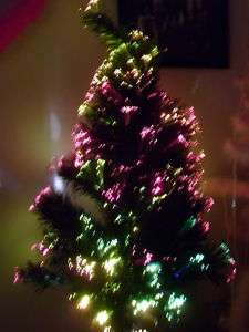 FIBEROPTIC MULTI COLOR 32 INCH CHRISTMAS TREE LAST ONE