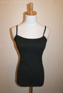 black polka dots tank top shirt punk rock emo EGL t324