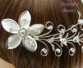 170mm Bridal Crystal Rhinestone Hair Pin Comb P3653