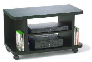 Northfield Rolling Espresso Wood Media TV/LCD Stand 095285408771