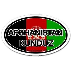 Afghanistan Kunduz and Afghan Flag Car Bumper Sticker Decal Oval