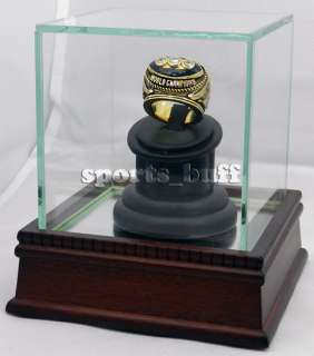 Championship Display Case Cherry Wood Glass Display Case Ring Box