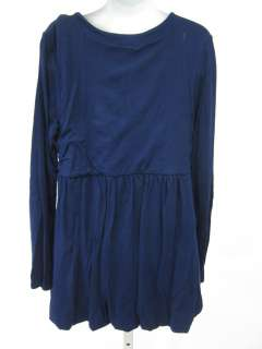 You are bidding on a FLOWERS BY ZOE GIRLS Navy Blue Long Sleeve Dress