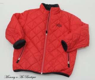 Girls Lands End Red Quilted PrimaLoft Jacket Size Medium M 5 6