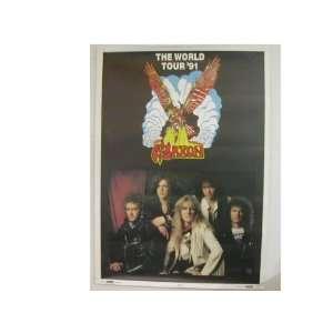 Saxon Promo Poster Band Shot World Tour 91: Everything