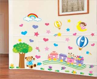 FUN TRAIN   Baby & Kids Removable Wall Sticker Decal
