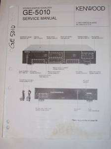 Kenwood Service Manual~GE 5010 Graphic Equalizer