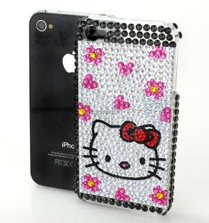 Hello Kitty Bling Back Skin Cover Case For iPhone 4 4G a7d14