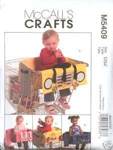 McCalls Baby Grocery Cart Cover Liners Pattern 5409 NEW