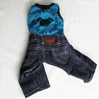 Blue Overall Jumpsuit pet dog clothes APPAREL Chihuahua