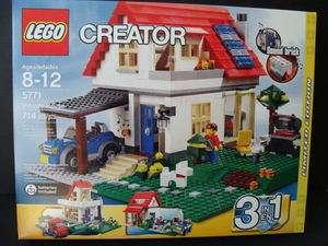 NEW LEGO Creator HILLSIDE House Home 5771 Greenhouse City Bungalow Dog