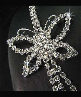 Wedding Bridal Bridesmaids Diamante Butterfly Crystal Necklace