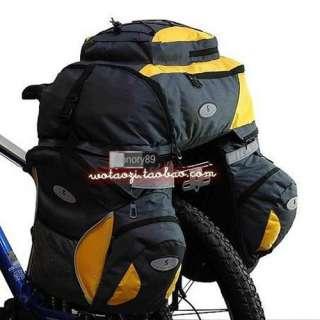 65L Cycling Bicycle Bag Bike rear seat bag pannier + Backpack NEW