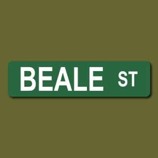 BEALE ST 6x24 Metal Street Sign Memphis, TN Blues Music