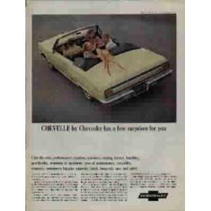 1965 Chevrolet Chevelle Malibu Super Sport Convertible Ad