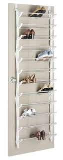 Whitmor Over The Door Shoe Rack   White   36 Pair 038861050384