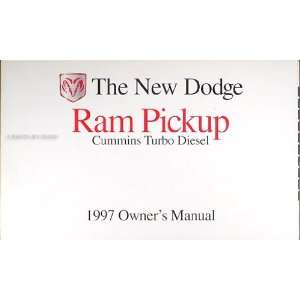 Cummins Turbo Diesel Pickup Truck Original Owner Manual Dodge Books