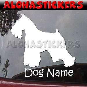 Custom MINIATURE SCHNAUZER DOG Breed Car Truck Vinyl Decal Window