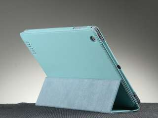 For New iPad 3 3rd Apple iPad 2 Stand PU Leather Magnetic Smart Cover