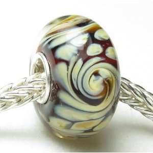 Glass Bead Fits Pandora Chamilia Biagi Trollbeads Bracelets Jewelry