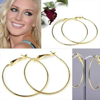 Fashion silver Gold Big Circle Basketball Wives Hoop Earrings 80mm