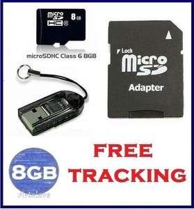8gb micro sd memory card Class 6 USB Flash Drive Reader TF SDHC SD