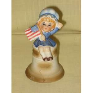 Vintage 1974 Albert E. Price   Porcelain Bell   Liberty