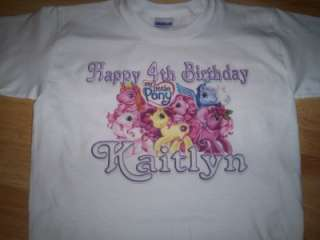 My Little Pony Custom Personalized Birthday Party Supplies T Shirt