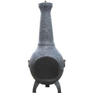 The Blue Rooster ALCH014GK Dragonfly Chiminea Outdoor