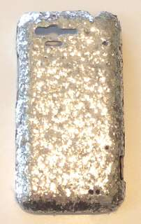Silver Diamond Sequin Cover For HTC Rhyme Bliss Faceplate Case