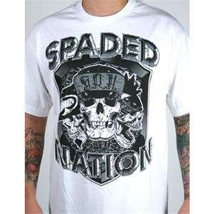 SRH Spaded Nation 3 T Shirt   3X Large/White: Automotive