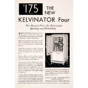 Antique Kelvinator Four Electric Refrigerator Home Kitchen Appliance