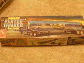 AMT FRUEHAUF PLATED TANKER SEMI TRAILER 1/25 scale model used