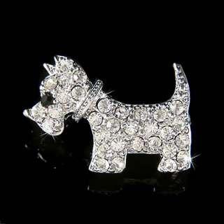 Swarovski Crystal WESTIE Scottie ~SCOTTISH TERRIER~~ DOG Animal Pet