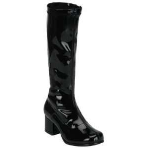 Black GoGo Boots Size Child X Large 4 4.5: Toys & Games