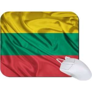 Rikki Knight Lithuania Flag Mouse Pad Mousepad   Ideal Gift for all