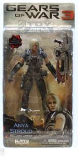 Gears of War 3 Series 1 Anya Stroug NECA GOW Rare Action Figure Toy