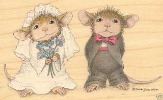 HOUSE MOUSE Wood Mounted Rubber Stamp Stampabilities Wedding Dress Up