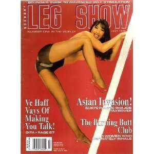 LEG SHOW MAGAZINE JULY 1996 DITA VON TESSE: LEG SHOW: Books