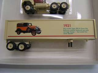 Winross Ford Trucks 1930s day cab tractor & trailer