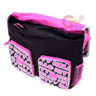 Hello Kitty School Messenger Bag / Diaper Bag Big Face & Typo