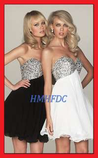Stock Short Beading Wedding Bridesmaid Cocktail Homecoming Party Dress