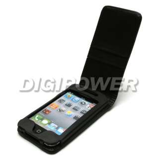 BLACK LEATHER WALLET CASE COVER FOR IPOD TOUCH 4 4G