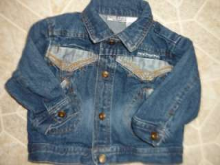 Rocawear Denim Blue Jean Jacket Boy Girl Infant 6/9 Mos