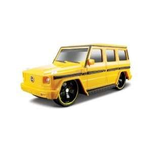 124 Maisto Mercedes G Wagen Yellow Remote Control Car