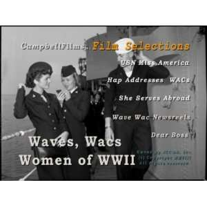 Army Navy Waves, WACs, WAFS and Women Of WW2 old films DVD